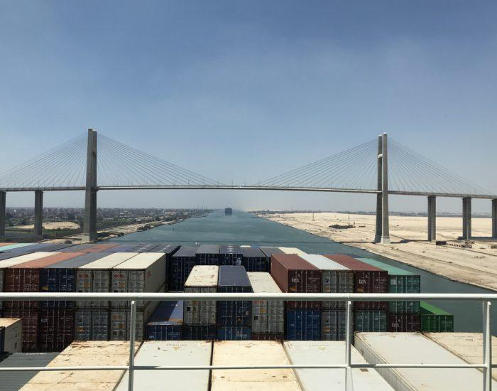 Die Friedensbrücke über den Suez-Kanal