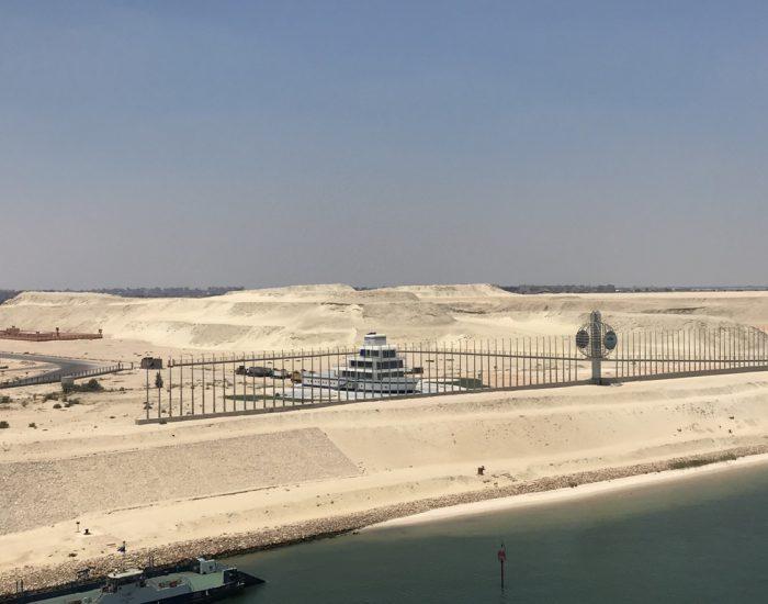 Die Lotsenstation im Suez-Kanal
