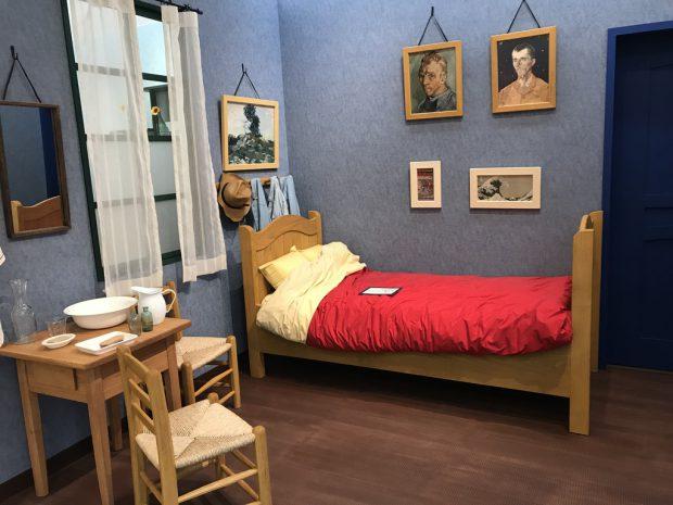 ein Bett nach einem Motiv von van Gogh